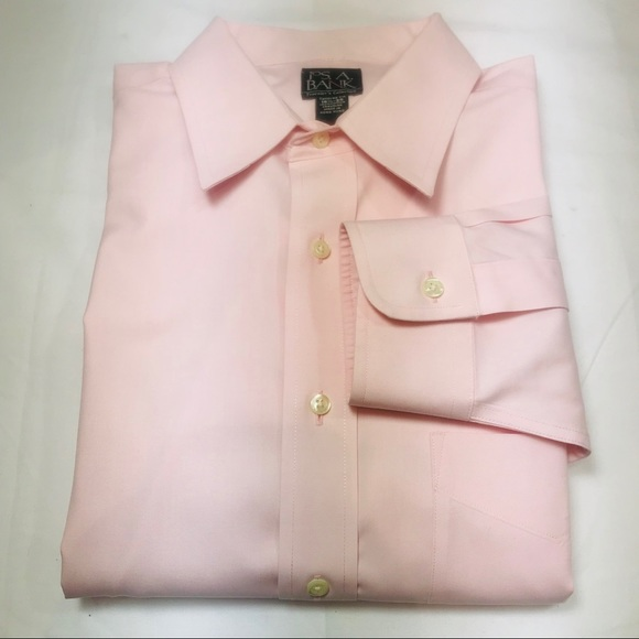 Jos. A. Bank Other - Jos A Bank Traveler's Tailored Fit Pink 16.5/35